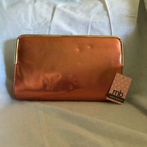 Metallic Orange and Gold Clutch NWT